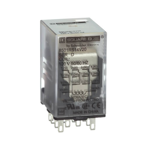 4PDT Mini Plug-In Relay, 5A (24V) Product Image