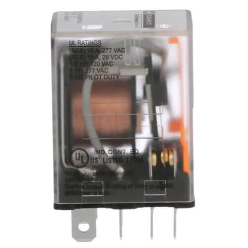 Miniature Plug In Relay, 15A, 2 poles, Pilot Light (24V) Product Image