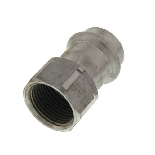 """3/4"""" ProPress 304 Stainless Female Adapter w/ FKM Seal (P x FNPT) Product Image"""