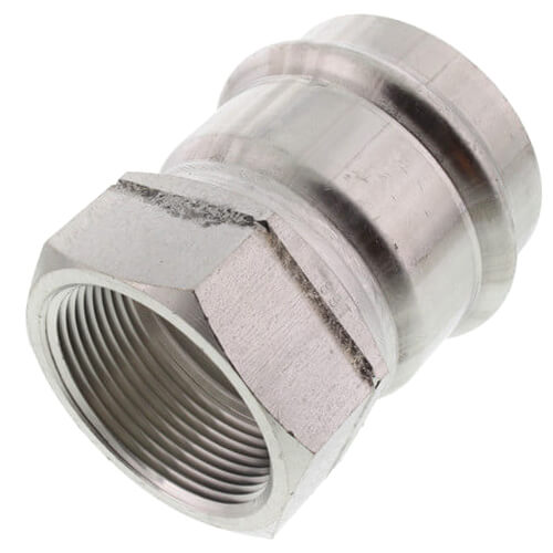 "2"" ProPress 304 Stainless Female Adapter w/ FKM Seal (P x FNPT) Product Image"