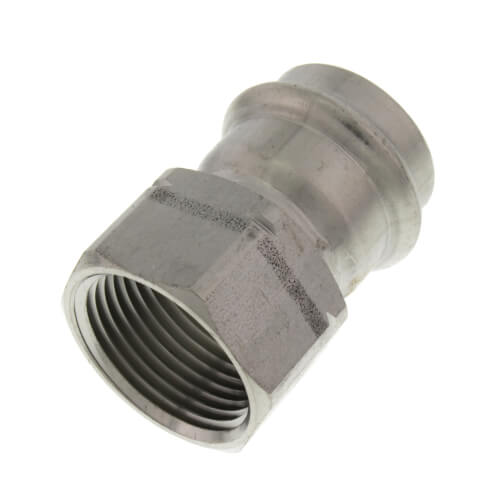 """1"""" ProPress 304 Stainless Female Adapter w/ FKM Seal (P x FNPT) Product Image"""