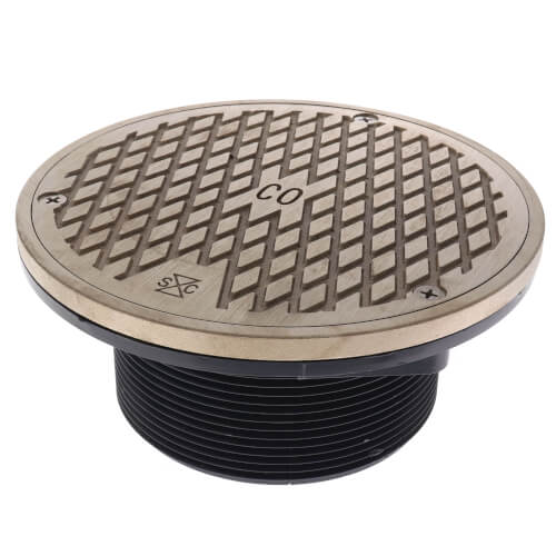 Sioux Finishline 852-4LNR Cleanout Cover Round Nickel Bronze