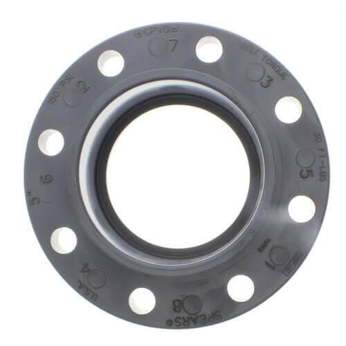 "4"" CPVC Schedule 80 Van Stone Flange w/ Plastic Ring (Socket) Product Image"