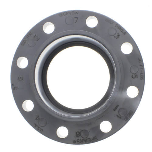 "5"" CPVC Schedule 80 Van Stone Flange w/ Plastic Ring (Socket) Product Image"