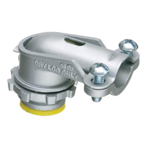 """3-1/2"""" Zinc 90° Squeeze Flex Connector Product Image"""