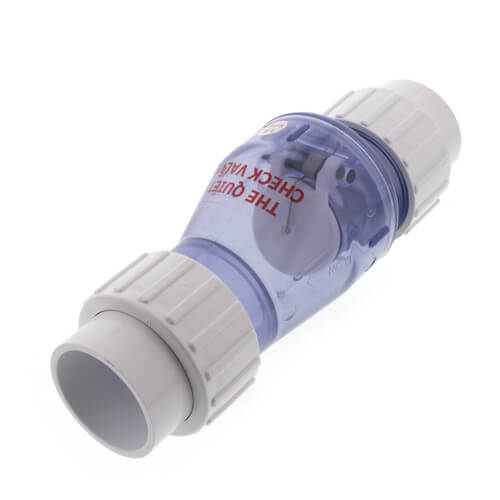 """1-1/2"""" Clear Flapper Check Valve w/ Union, Spring Loaded (Slip) Product Image"""