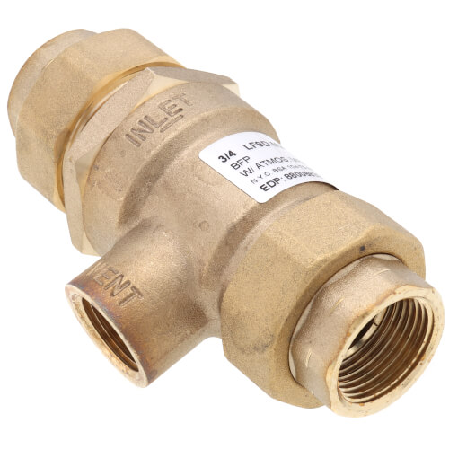"""3/4"""" LF9D Female Union Forged Brass Dual Check w/ Intermediate Atmospheric Vent (Lead Free) Product Image"""