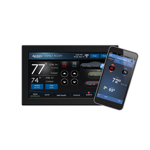 Programmable 2H/2C or 4H/2C Heat Pump Thermostat (Color Touch Screen, WiFi) Product Image