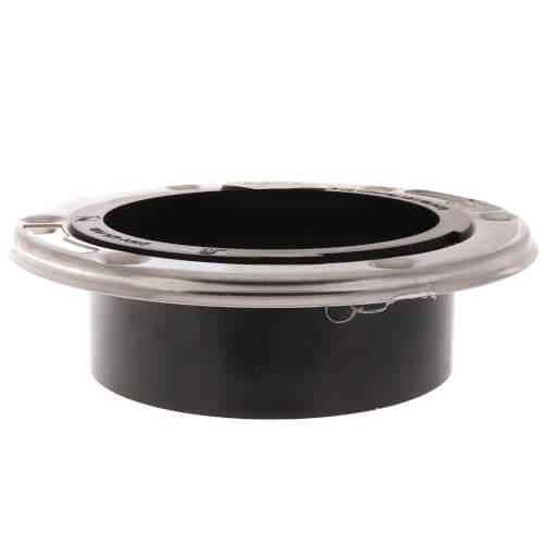 """Flush to Floor Open Closet Flange w/ Stainless Steel Ring (4"""" Spigot) Product Image"""