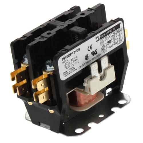 Definite Purpose Contactor, 2P, 20A (208/240V) Product Image
