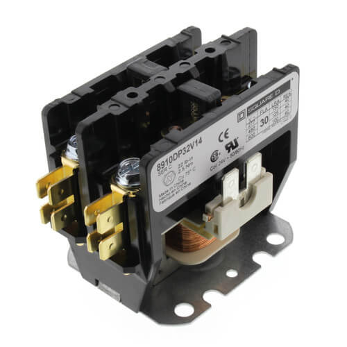 Definite Purpose Contactor 1-Phase Contactor, 2P, 30A (24V) Product Image