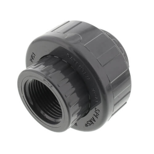 Union with EPDM O-Ring 3//4 NPT Female Schedule 80 Spears 898 Series PVC Pipe Fitting