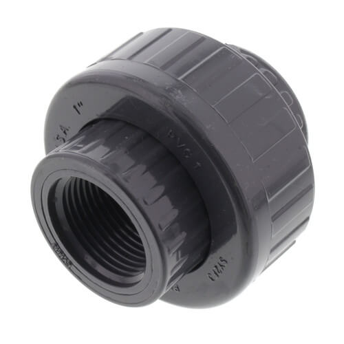 """1"""" PVC Sch. 80 Union With EPDM O-Ring Seal (S x FPT) Product Image"""