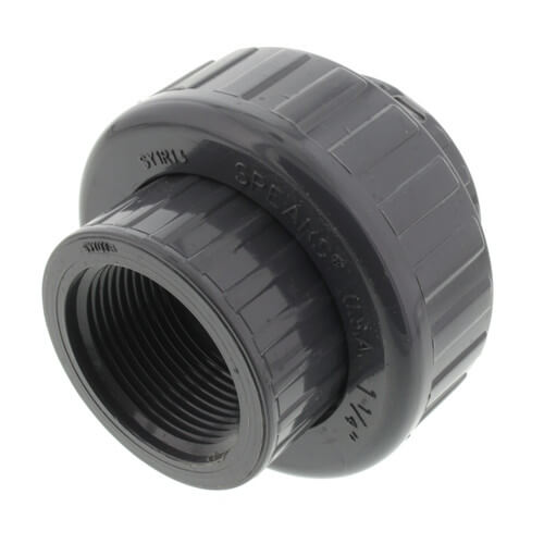 """1-1/4"""" PVC Sch. 80 Union With EPDM O-Ring Seal (S x FPT) Product Image"""