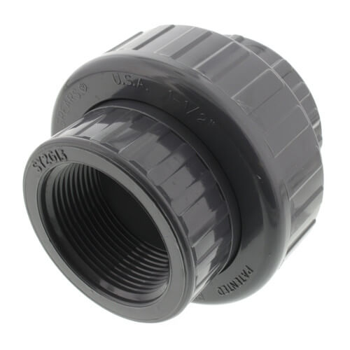 """1-1/2"""" PVC Sch. 80 Union With EPDM O-Ring Seal (S x FPT) Product Image"""