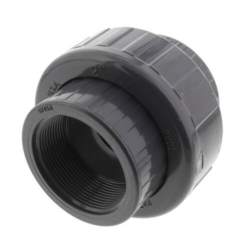"""2"""" PVC Sch. 80 Union With EPDM O-Ring Seal (S x FPT) Product Image"""
