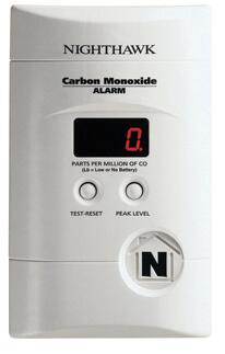KN-COPP-3 Plug-In Carbon Monoxide Alarm (120v) w/ Digital Display and 9v Battery Backup Product Image