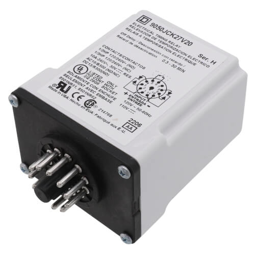 120V 10A DPDT Time Delay Relay Product Image
