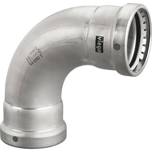 """4"""" MegaPress XL 316  Stainless Steel 90° Elbow Product Image"""