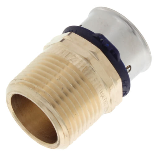 """3/4"""" PEX Press x 3/4"""" Male Adapter w/ Attached Sleeve (Zero Lead Bronze) Product Image"""