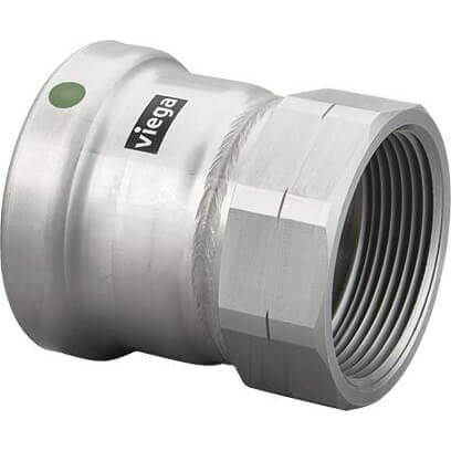 "4"" MegaPress XL 316 Stainless Steel Female Adapter (Press x Female) Product Image"
