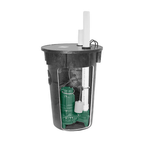 "Model 912(BN264) Preassembled Simplex Sewage Package System, 2"" Vent (115V, 2/5 HP) Product Image"
