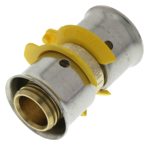 """1/2"""" PEX Press Coupling w/ Attached Sleeve (Zero Lead Bronze) Product Image"""