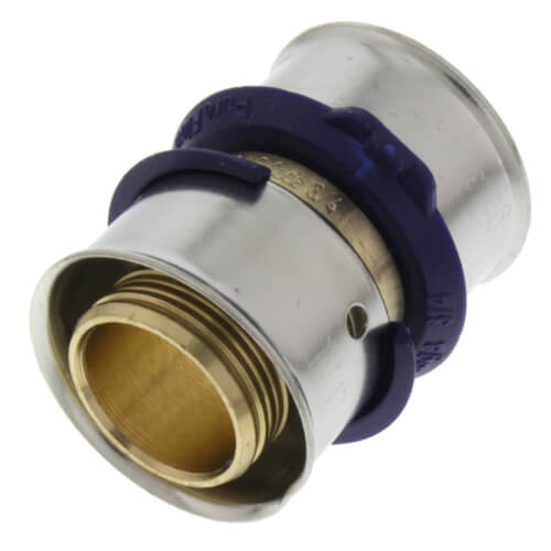 "3/4"" PEX Press Coupling w/ Attached Sleeve (Zero Lead Bronze) Product Image"