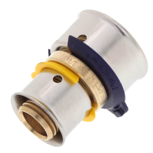 """1/2"""" x 3/4"""" PEX Press Coupling w/ Attached Sleeve (Zero Lead Bronze) Product Image"""