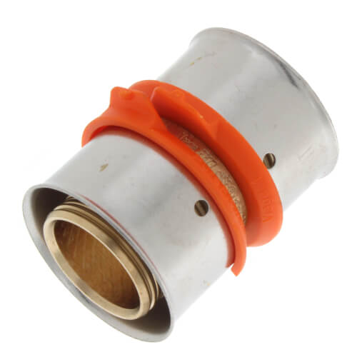 """1"""" PEX Press Coupling w/ Attached Sleeve (Zero Lead Bronze) Product Image"""