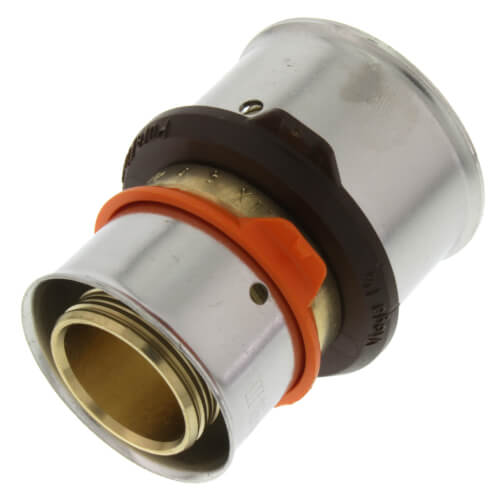 "1"" x 1-1/4"" PEX Press Coupling w/ Attached Sleeve (Zero Lead Bronze) Product Image"