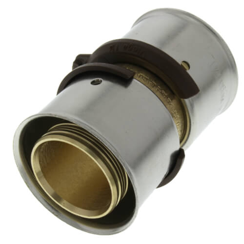 """1-1/4"""" PEX Press Coupling w/ Attached Sleeve (Zero Lead Bronze) Product Image"""