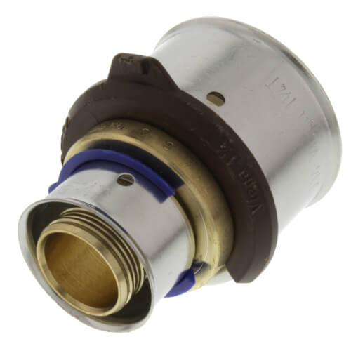 """3/4"""" x 1-1/4"""" PEX Press Coupling w/ Attached Sleeve (Zero Lead Bronze) Product Image"""