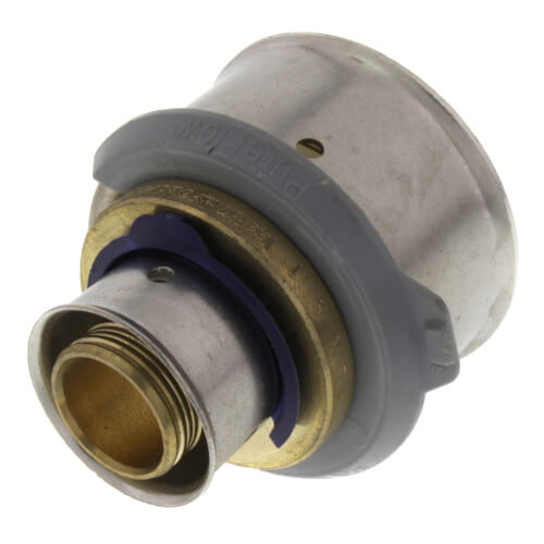"3/4"" x 1-1/2"" PEX Press Coupling w/ Attached Sleeve (Zero Lead Bronze) Product Image"