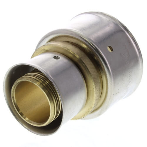 """1"""" x 1-1/2"""" PEX Press Coupling w/ Attached Sleeve (Zero Lead Bronze) Product Image"""