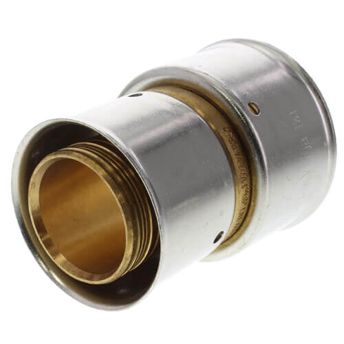 """1-1/4"""" x 1-1/2"""" PEX Press Coupling w/ Attached Sleeve (Zero Lead Bronze) Product Image"""