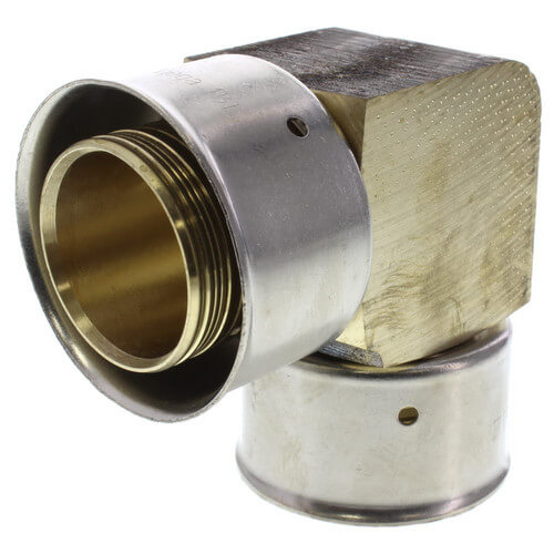 "2"" PEX Press 90° Elbow w/ Attached Sleeve (Zero Lead Bronze) Product Image"