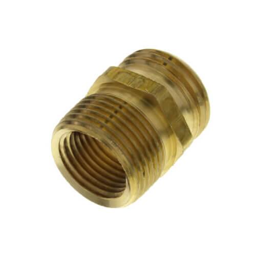 "3/4"" Male Hose x 3/4"" MIP OD (1/2"" FIP ID) Brass Garden Hose Adapter Product Image"