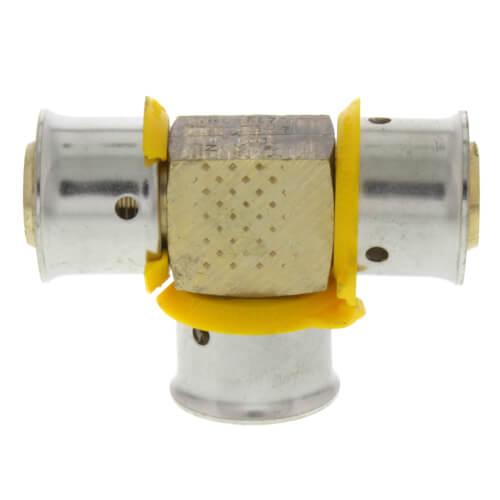 "1/2"" PEX Press Tee w/ Attached Sleeve (Zero Lead Bronze) Product Image"