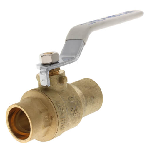 """3/4"""" Sweat Full Port Stop & Waste Ball Valve (Lead Free) Product Image"""