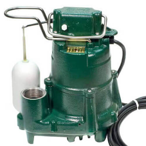 Model M98 Flow-Mate Automatic Cast Iron Effluent Sump Pump w/ 25' Cord - 115 V, 1/2 HP Product Image