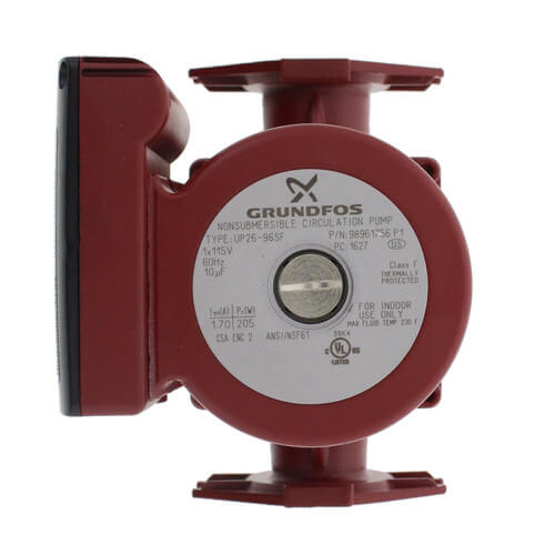 GRUNDFOS UP26-96SF 115V 60Hz 9H CIRC PUMP, STAINLESS STEEL HOUSING (98961756) MC358558