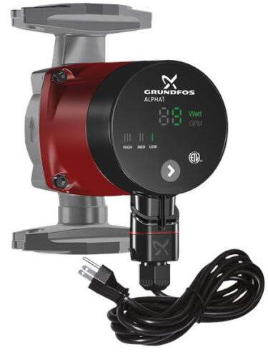 ALPHA1, Circulator Pump, 1/16 HP, 115 Volt w/ Line Cord Product Image