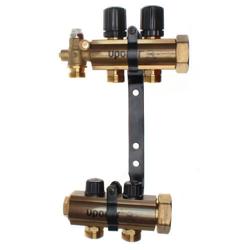 TruFLOW Jr. Manifold Assembly with Isolation Valves & Balancing Valves, 2 Loop S&R Product Image