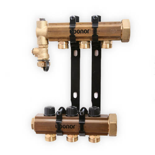 TruFLOW Jr. Manifold Assembly with Balancing Valves & Valveless, 3 Loop S&R Product Image