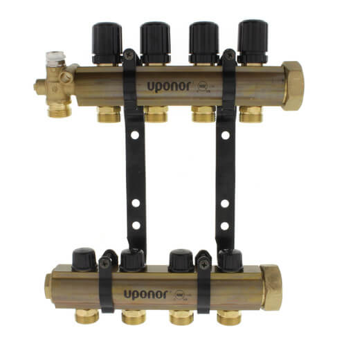 TruFLOW Jr. Manifold Assembly with Isolation Valves & Balancing Valves, 4 Loop S&R Product Image