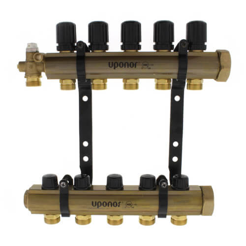 TruFLOW Jr. Manifold Assembly with Isolation Valves & Balancing Valves, 5 Loop S&R Product Image