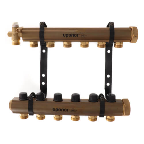 TruFLOW Jr. Manifold Assembly with Balancing Valves & Valveless, 6 Loop S&R Product Image