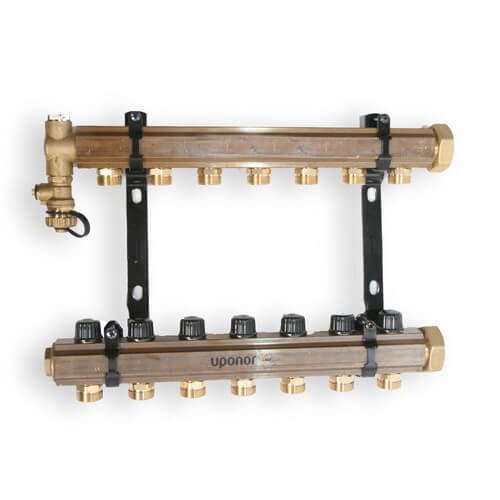 TruFLOW Jr. Manifold Assembly with Balancing Valves & Valveless, 7 Loop S&R Product Image