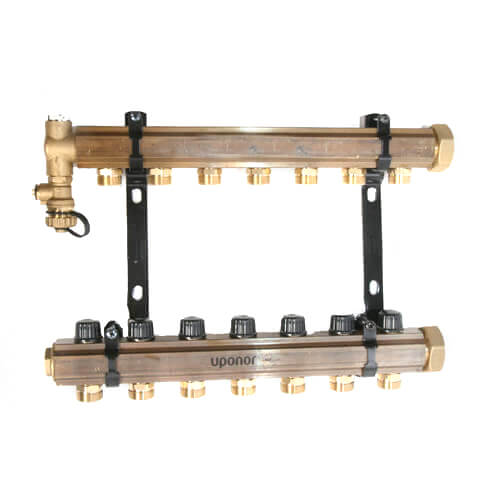 TruFLOW Jr. Manifold Assembly with Isolation Valves & Balancing Valves, 7 Loop S&R Product Image